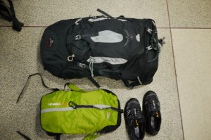Osprey Atmos 65 and Lowe Alpine Houdini pack